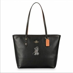 Coach Minnie mouse city tote leather